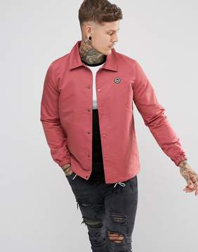 Hype Coach Jacket In Dusty Pink