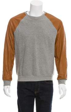 Marc Jacobs Two-Tone Leather-Accented Sweatshirt