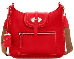 Dooney & Bourke Florentine Toscana Front Zip Crossbody Shoulder Bag - RED - STYLE