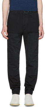 Rag & Bone Black Engineered Workwear Chinos