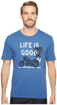 Life is Good Motorcycle Beach Smooth Tee Men's Short Sleeve Pullover