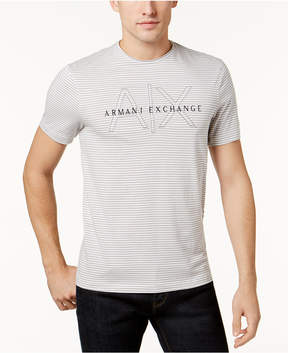 Armani Exchange Men's Logo Striped T-Shirt