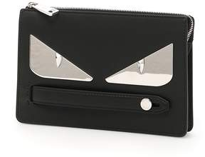 Fendi Leather Bag Bugs Clutch