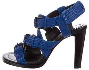 3.1 Phillip Lim Embossed Ankle Strap Sandals