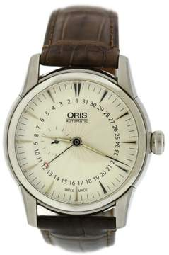 Oris Artelier 7665 Stainless Steel & Leather Automatic 42mm Mens Watch