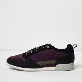 River Island Mens Purple retro runner sneakers
