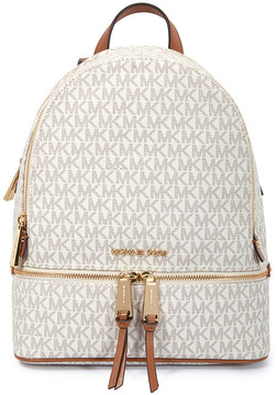 Michael Kors Rhea Medium Logo Print Backpack - Vanilla - ONE COLOR - STYLE