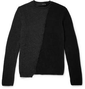 Isabel Benenato Panelled Merino Wool-Blend Sweater