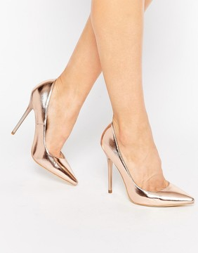 Public Desire Josie Rose Gold Pumps