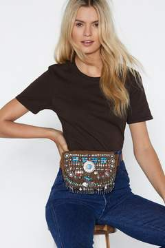 Nasty Gal WANT Caught in the Metal Suede Belt Bag