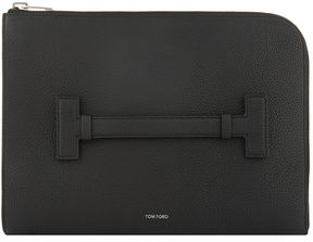 Tom Ford T Handle Leather Portfolio Sleeve