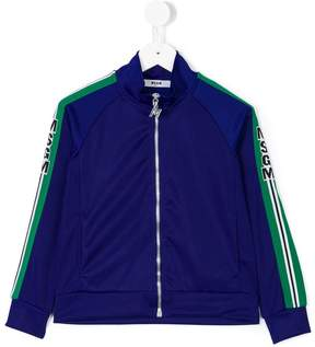 MSGM logo zip front track top