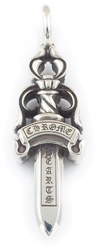 Chrome Hearts Sterling Silver Double Dagger Charm Pendant