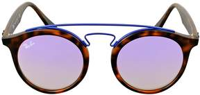 Ray-Ban Lilac Gradient Mirror Round Sunglasses