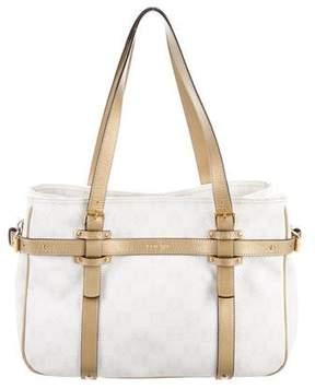 Loewe Leather-Trimmed Monogram Bag