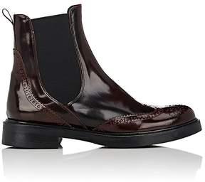 Barneys New York Women's Spazzolato Leather Wingtip Chelsea Boots