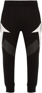 Neil Barrett Tapered-leg neoprene track pants