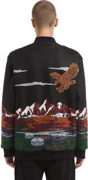 Les Benjamins Skyline Printed Cotton Bomber Jacket