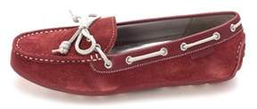 Cole Haan Womens D43379 Suede Closed Toe Boat Shoes.