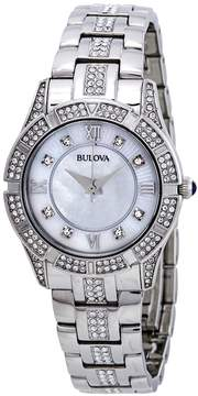Bulova Crystals Mother of Pearl Dial Ladies Watch