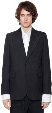 Ann Demeulemeester Wrinkled Effect Mixed Virgin Wool Jacket