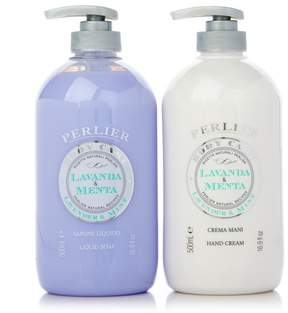 Perlier Lavender & Mint Hand Cream and Liquid Soap