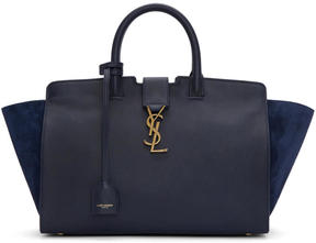 Saint Laurent Navy Small Downtown Cabas Tote