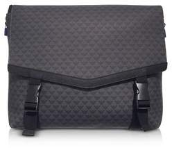 Emporio Armani Men's Black Pvc Messenger Bag.