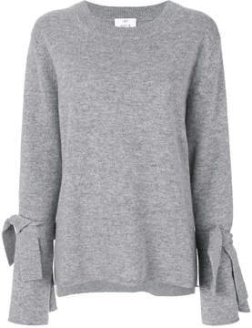 Allude jumper with tie cuffs