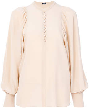 Joseph puffy sleeves buttoned blouse