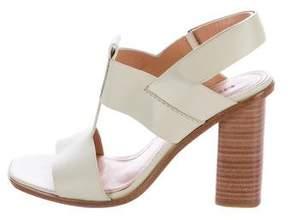 Sigerson Morrison Square-Toe Leather Sandals