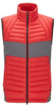 BOSS Hugo Colorblocked Quilted Vest Vecko M Red