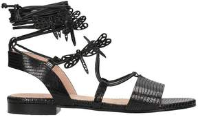 RED Valentino Sandals In Black Leather