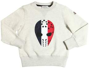 Moncler Hockey Mask Printed Cotton Sweatshirt
