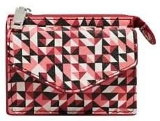 MANGO Geometric Faux Leather Wallet