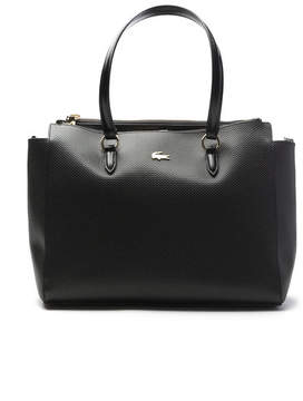 Women's Chantaco Gusseted Fine Piqu Leather Double Zip Tote Bag