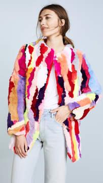 Adrienne Landau Rex Rabbit Multi Coat