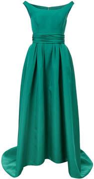 Carolina Herrera off the shoulder high low gown