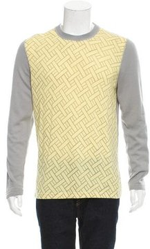 Marc Jacobs Patterned Knit Crew Neck Sweater