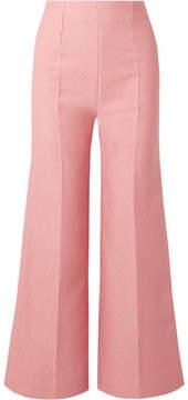 Emilia Wickstead Hullinie Cloqué Wide-leg Pants - Pink