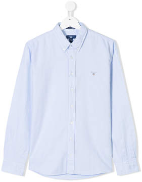 Gant Kids TEEN embroidered logo button-down shirt