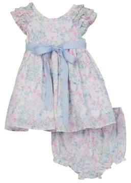 Laura Ashley Floral Cotton Swiss Dot Dress (Baby Girls 12-24M)