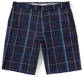 Callaway Flat-Front Stretch Active Waistband Thin Plaid 10#double; Shorts