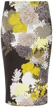Dorothy Perkins Black 'Noir' Scuba Pencil Skirt