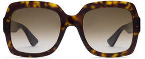 Gucci Oversize square-frame acetate sunglasses with Web