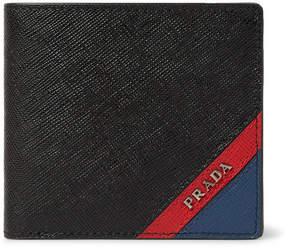 Prada Colour-Block Saffiano Leather Billfold Wallet