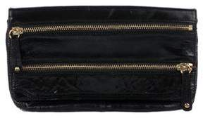MZ Wallace Patent Leather Flap Clutch