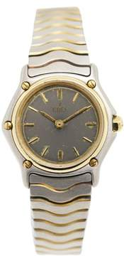 Ebel Wave Two Tone 18K Yellow Gold & Stainless Steel 24mm Womens Watch