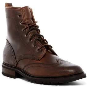 Frye James Lug Wingtip Genuine Shearling Lined Boot
