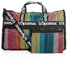 Le Sport Sac Candace Weekender Rainbow Stripe Duffel Bag